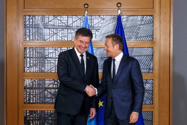 Miroslav Lajcak s predsedom Európskej rady D. Tuskom