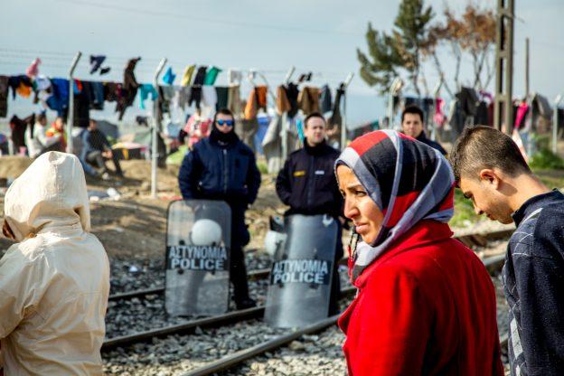 tábor Idomeni, foto: Julian Buijzen
